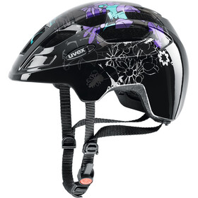 UVEX Finale Junior Helmet purple flowers